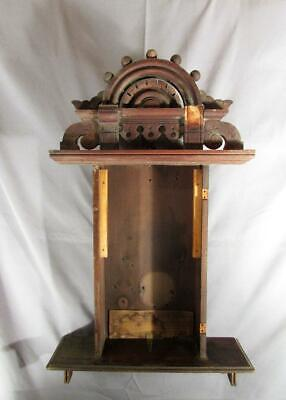 Antique Seth Thomas Eclipse Walnut Wall Clock Ball Top Case - Parts