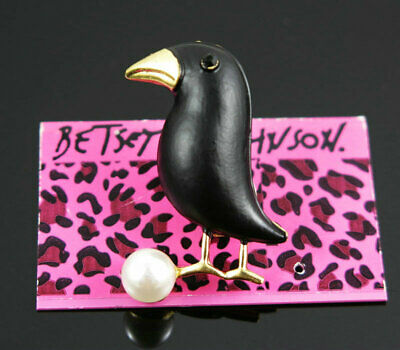 Betsey Johnson Lovely Enamel Charm Animal Brooch Pin Gift  Jewelry