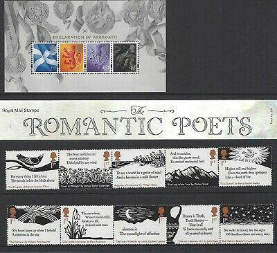 *Pre-Sale* 2020 Gb Romantic Poets Mint Listing Of Presentation Pack 584 & Stamps
