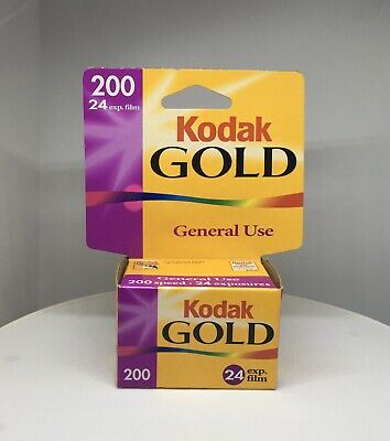 Rare Kodak 200 Gold Plus 24 Exposures/Roll New Sealed Box