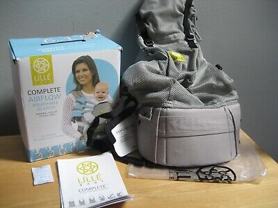 New Lille Baby Complete Airflow Breathable 6 Position Baby Carrier Grey V
