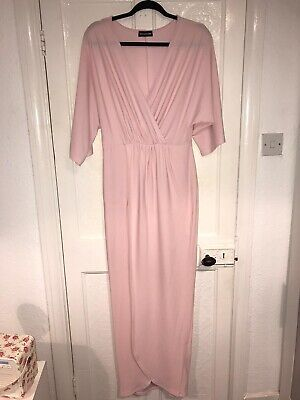 Pretty Little Thing Pink Maxi Dress Size 10