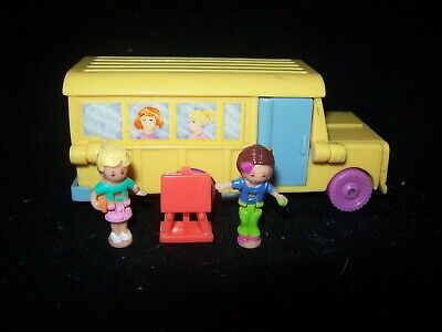EUC 100% Complete Vintage Polly Pocket Classroom on the Go 1996