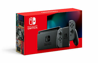 Brand New Nintendo Switch Console with Gray Joy cons - Ships today (2.0 Switch)