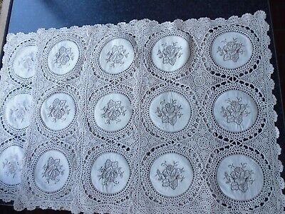 vintage lace placemats and runner