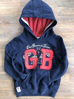 Girls Size 5 Navy Blue Hoodie By Next UK. Special Edition 2012 London Olympics
