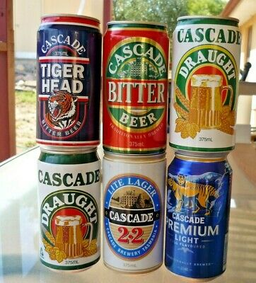 Collectable beer cans - Set of 6 assorted Cascade beer cans