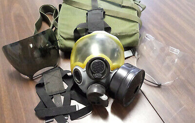 MSA CBRN Protective Gas Mask Medium MSA 40mm Filter Tinted+Clear Lens Carry Bag