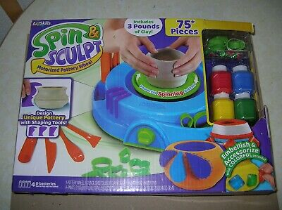 Artskills Kids Spin & Sculpt Pottery Wheel and Paint Set *NEW*