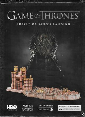 Game of Thrones Kings Landing 260 Piece 3D Jigsaw Puzzle 4d Cityscape NEW SEALED