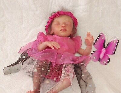 As New Rare HTF Marita Winters Reborn as Miniature 24cm Fairy Doll PIXIE