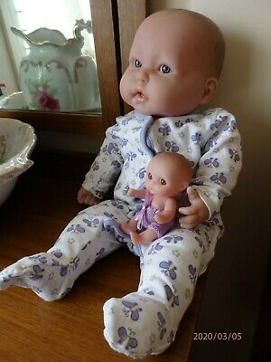 Berenguer baby doll 19inch (48cm) soft body,2 little teeth with small berenguer
