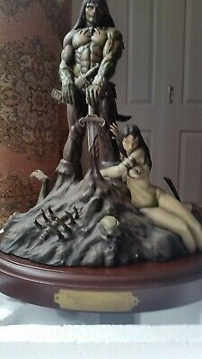 Frank Frazetta's Limited Edition Barbarian statue 'Moore Creations'