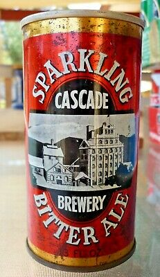 Collectable beer cans -  Cascade Bitter Ale straight steel 13 fl oz can