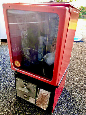 Gumball Toy Prize Machine Victor 77 Vending Chicago Illinois Coin Operated Box