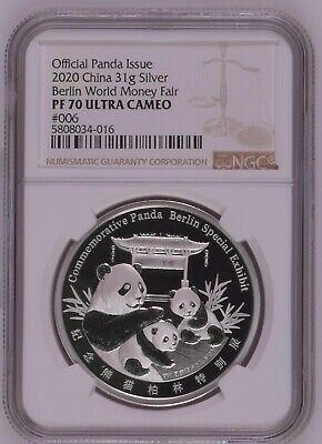 NGC PF70 First Release China 2017 Fu Longevity Silver Medal 8g