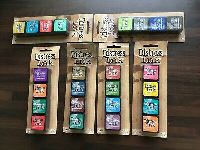 6 X 4 Sets (24) Tim Holtz Distressed Ink Pads All New