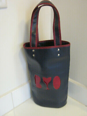 Retro 1970's Vinyl 2 Wine Bottle BYO Bag