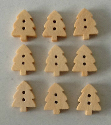 9 Pack Xmas Tree Buttons