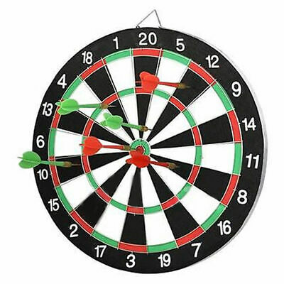 "Large 15"" Dart Board Set Dartboard Family Party GameWith 6 Darts  Fun UK"