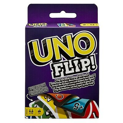 UNO Flip! Card Game Double Sided Classic Pocket Travel Party Fun 2-10 Player New