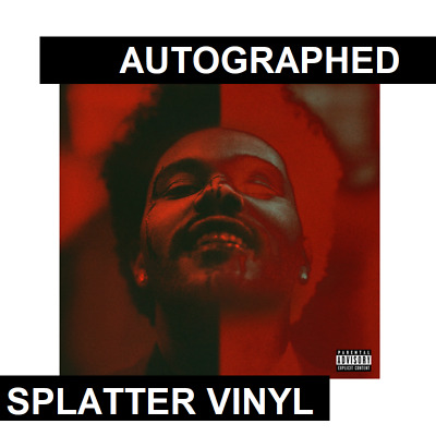 The Weeknd AUTOGRAPHED SIGNED After Hours Deluxe Vinyl SPLATTER LP Record