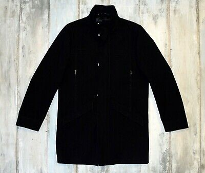 TIGER OF SWEDEN MENS BLACK WOOL COAT size 50 Medium/Large M/L