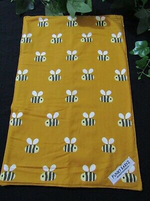 Baby changing mat-Bees-Funky babyz,Australian made.