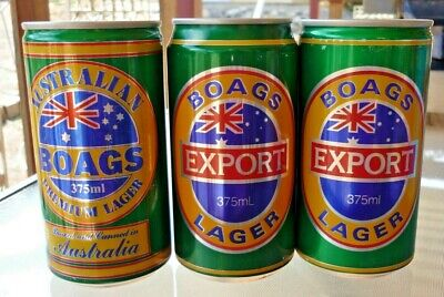 Collectable beer cans - Set of 3 Boags Export Lager beer cans