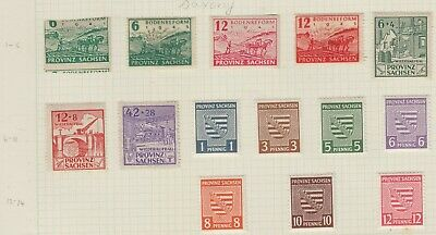 {Old 117}  Germany Saxony Stamps From A Collection