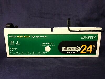 Graseby MS 26 24hr Daily Rate Syringe Driver with Online Manual