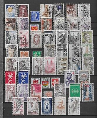 FRANCE LOT 54 TIMBRES DES ANNEES 1955 à 1959 COTE SUR CATALOGUE 41 EUROS