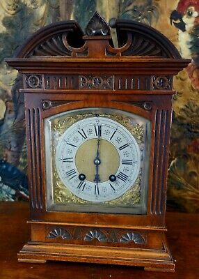Large Antique Mantel - Mantle Clock - Running & Chiming