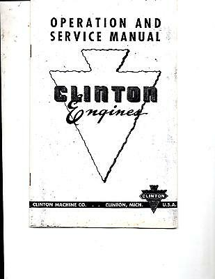 Clinton Engines Operation And Service Manual