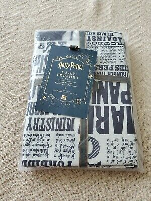 Set of 2 Pottery Barn Harry Potter Daily Prophet Newspaper Pillowcases NEW