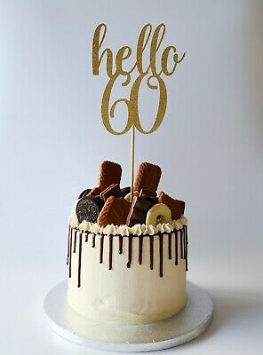 Pleasing Hello 60 60Th Birthday Cake Topper 60Th Birthday 22 Glitter Funny Birthday Cards Online Bapapcheapnameinfo