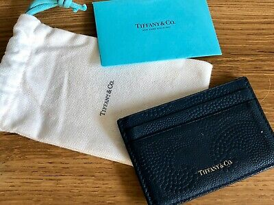 Tiffany & Co. Leather Wallet Card Holder Midnight Blue