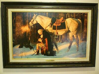 Arnold Friberg PRAYER AT VALLEY FORGE 15x24 Canvas Giclee Art Print Washington