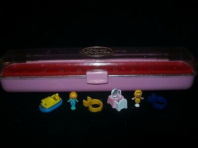 EUC 100% Complete Vintage Polly Pocket Ring Case 1989 (with both rings)