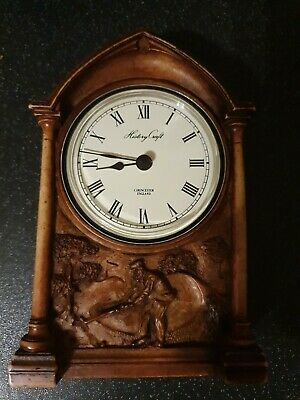 """History craft clock Cirencester England Golf Player Carved With Detail 6"""" heavy"""