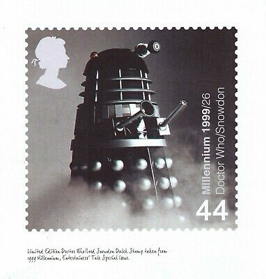 Doctor Who Royal Mail Limited Edition Print 1999 Dalek Stamp Not on General Sale