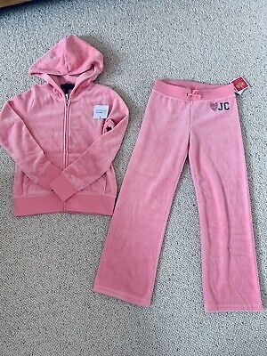 juicy couture tracksuits Hoodie And Jogger Girl Age 6 7 8 New With Tag