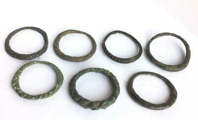 Viking Scandinavian ancient  7 rings  century 8 century AD authentic  collection