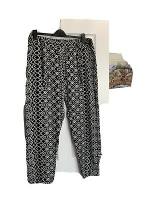 Ladies SIZE 18 lightweight  print summer holiday harem trousers BNWot