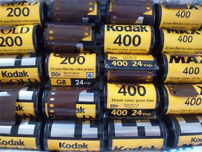LOT-20 EXPIRED ROLLS OF 35mm KODAK FILM - MAX 400 - GOLD 200 - KODAK 400