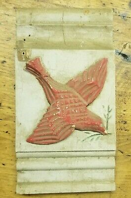 Antique Door/Window Rosette Plinth Block - 1880s 90s Architectural Salvage BIRD