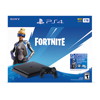 PS4 Playstation 4 1TB Slim Console Fortnite Noe Versa Bundle BRAND NEW