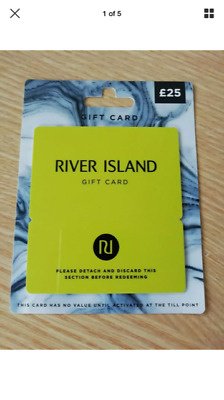 Brand New £25.00 River Island Gift Voucher Gift Card Ladies or Male