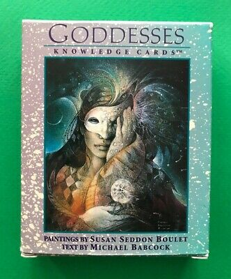 Goddesses Knowledge Card Deck by Susan Boulet - Incomplete Deck