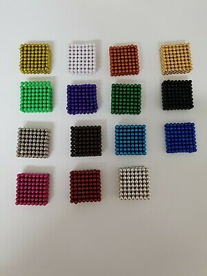 216 Magnetic Balls 5mm. Mixed Colours